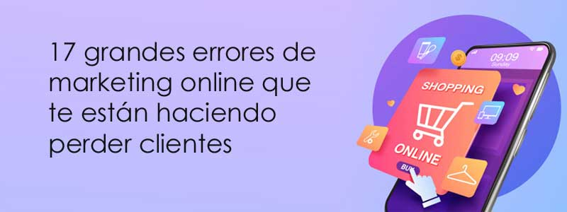 errores de marketing online