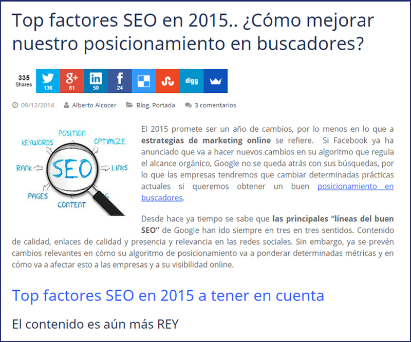 top factores seo 2015