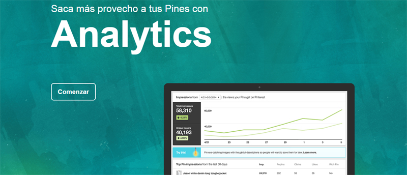 Pintersest analytics