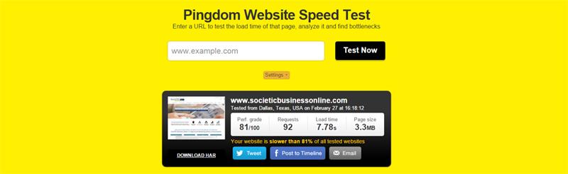 velocidad de carga de la web