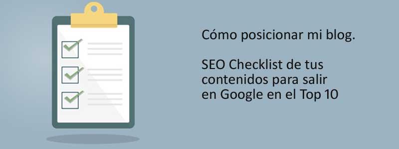 checklist SEO
