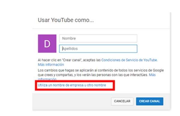usar youtube