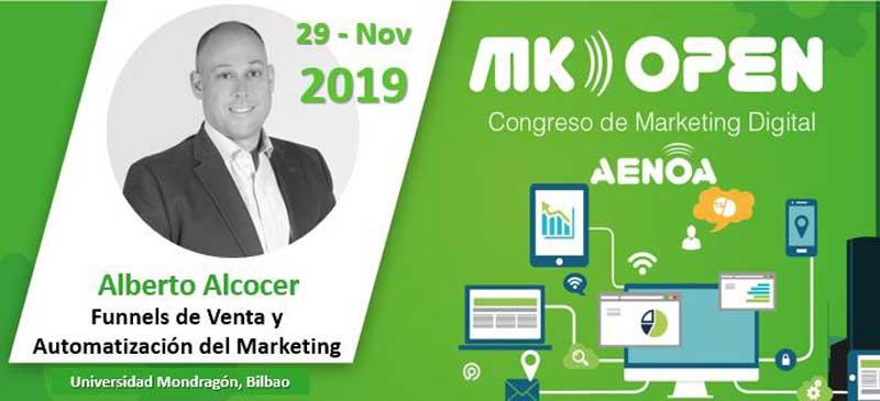 Alberto Alcocer, ponente en el MK Open